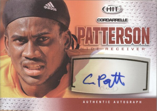 2013 SAGE HIT Autographs #A14 Cordarrelle Patterson
