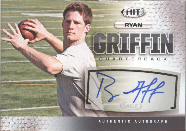 2013 SAGE HIT Autographs #A19 Ryan Griffin