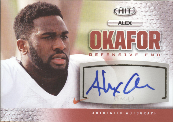 2013 SAGE HIT Autographs #A30 Alex Okafor