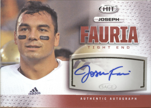 2013 SAGE HIT Autographs #A36 Joseph Fauria
