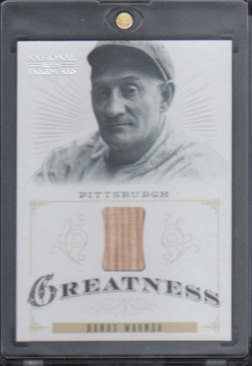 2012 Panini National Treasures Greatness Materials #8 Honus Wagner/25