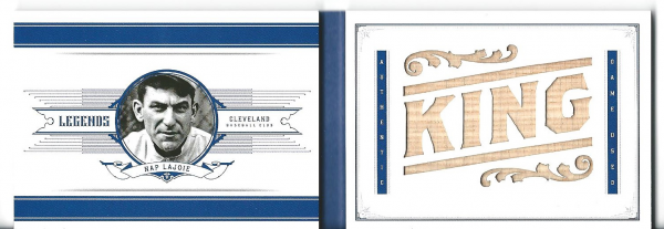 2012 Panini National Treasures Legends Jumbo Bat Nickname #3 Nap Lajoie/10