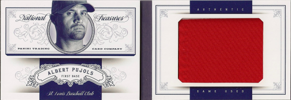 2012 Panini National Treasures Jumbo Materials #1 Albert Pujols/99