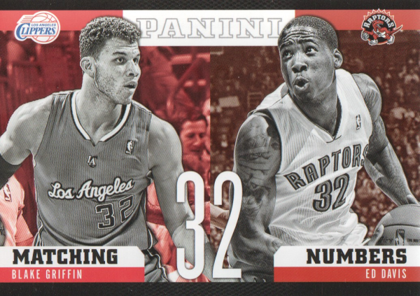 2012-13 Panini Matching Numbers #1 Blake Griffin/Ed Davis