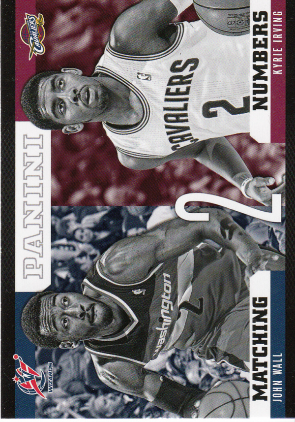 2012-13 Panini Matching Numbers #25 John Wall/Kyrie Irving