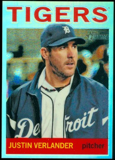 2013 Topps Heritage Chrome Refractors #HC30 Justin Verlander