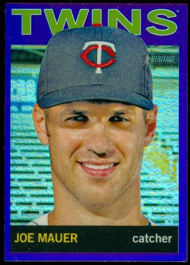 2013 Topps Heritage Chrome Purple Refractors #HC7 Joe Mauer