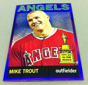 2013 Topps Heritage Chrome Purple Refractors #HC10 Mike Trout