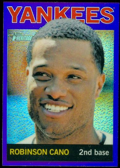 2013 Topps Heritage Chrome Purple Refractors #HC24 Robinson Cano
