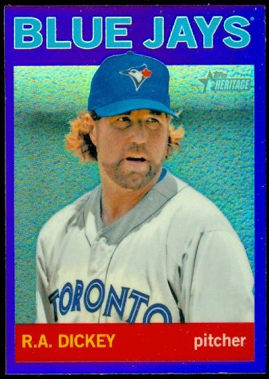 2013 Topps Heritage Chrome Purple Refractors #HC70 R.A. Dickey