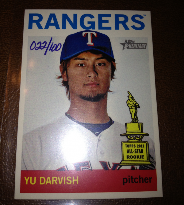 2013 Topps Heritage Mini #125 Yu Darvish