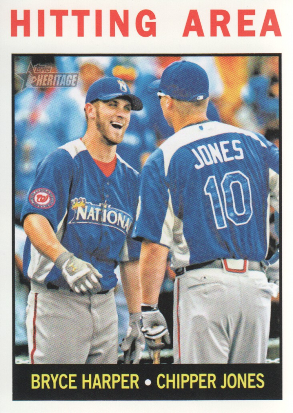 2013 Topps Heritage #162 Bryce Harper/Chipper Jones