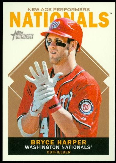 2013 Topps Heritage New Age Performers #BH Bryce Harper