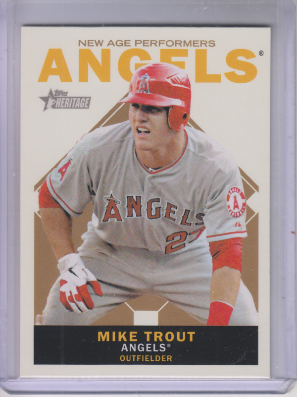 2013 Topps Heritage New Age Performers #MT Mike Trout