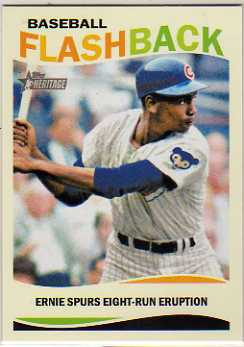 2013 Topps Heritage Baseball Flashbacks #EB Ernie Banks