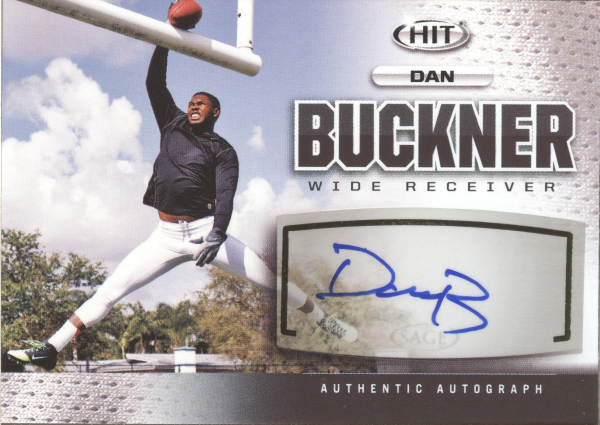 2013 SAGE HIT Autographs #A114 Dan Buckner