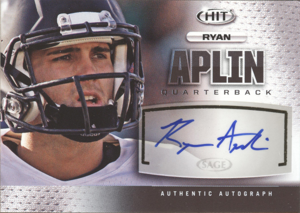 2013 SAGE HIT Autographs #A116 Ryan Aplin