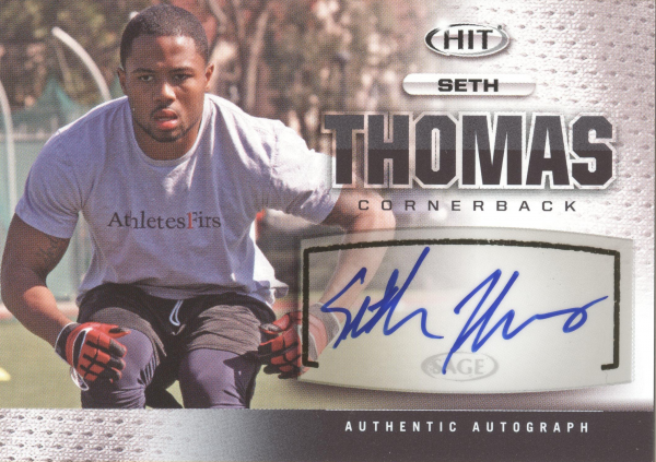 2013 SAGE HIT Autographs #A119 Seth Thomas