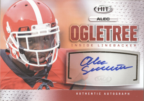 2013 SAGE HIT Autographs #A124 Alec Ogletree