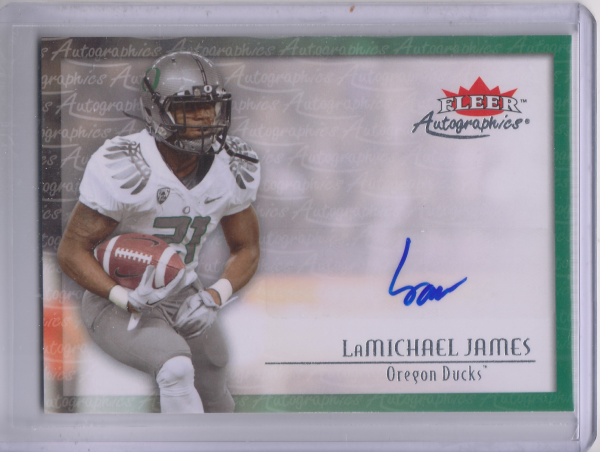2012 Fleer Retro Autographics 2000 #00LJ LaMichael James