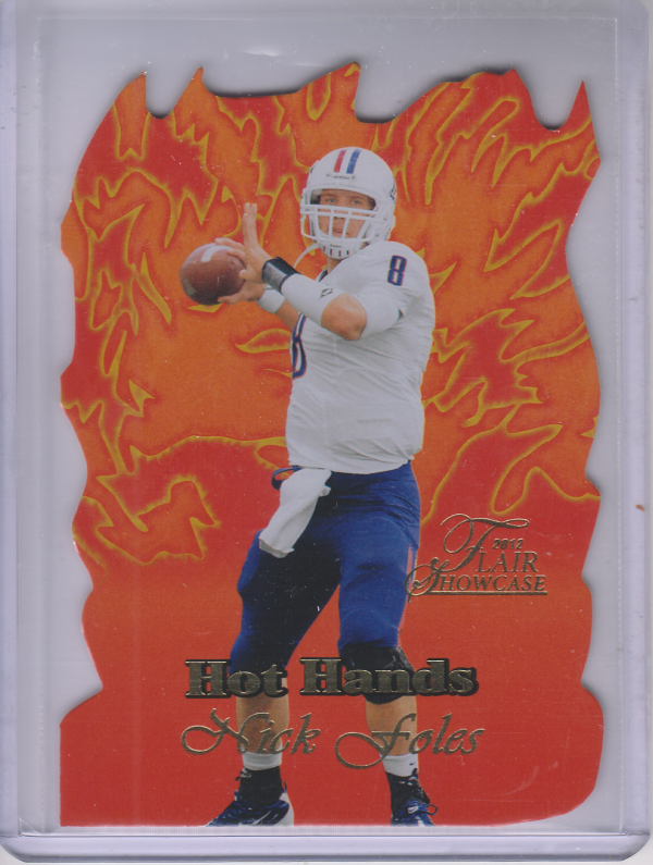 2012 Fleer Retro Flair Showcase Hot Hands #HH30 Nick Foles