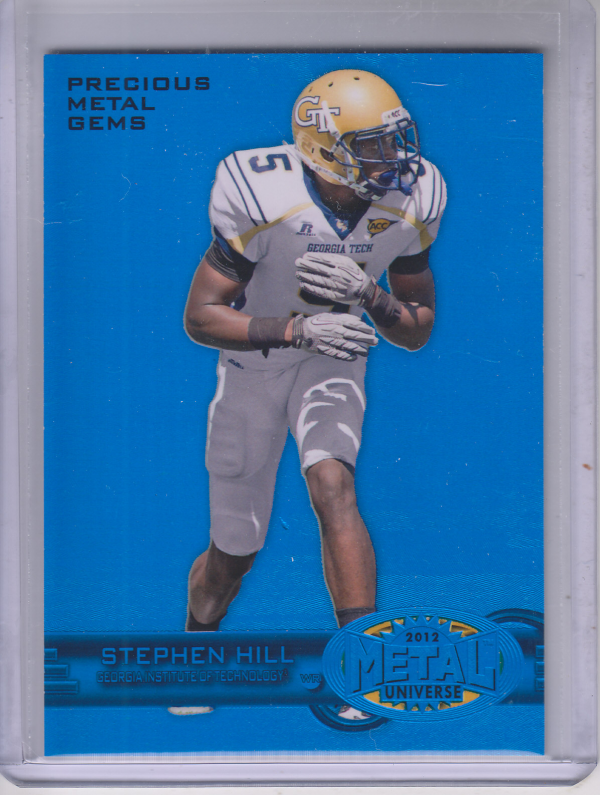 2012 Fleer Retro Metal Precious Metal Gems Blue #M56 Stephen Hill