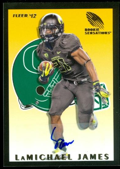 2012 Fleer Retro Rookie Sensations Autographs #RS20 LaMichael James