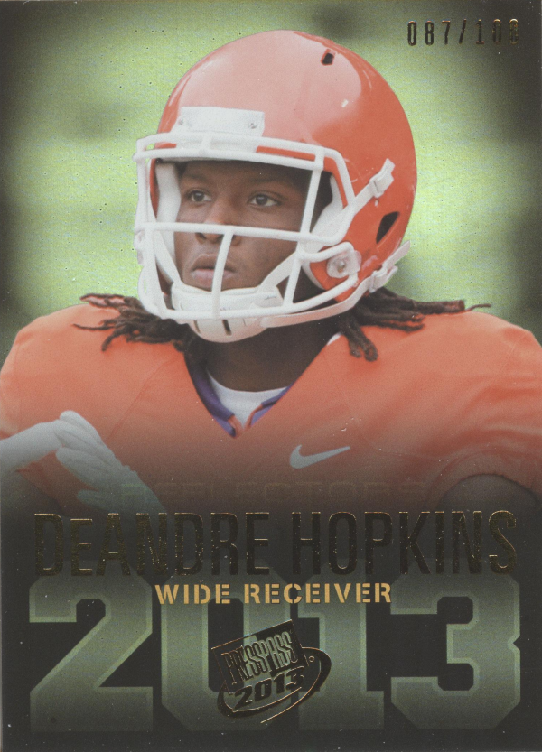 2013 Press Pass Reflectors Proof #18 DeAndre Hopkins