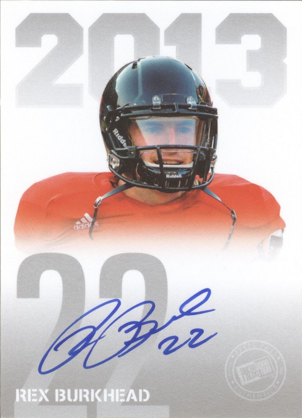 2013 Press Pass Autographs Silver #RB Rex Burkhead