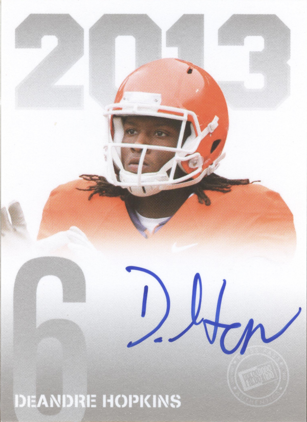 2013 Press Pass Autographs Silver #DH DeAndre Hopkins