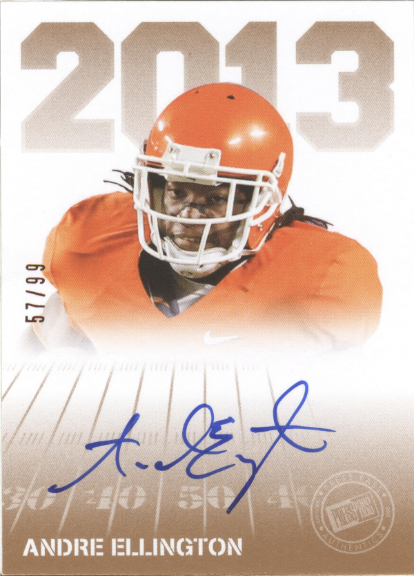 2013 Press Pass Autographs Bronze #AE Andre Ellington/99