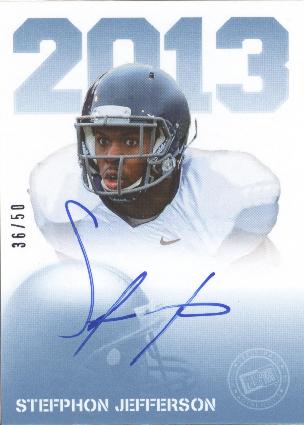 2013 Press Pass Autographs Blue #SJ Stefphon Jefferson/50