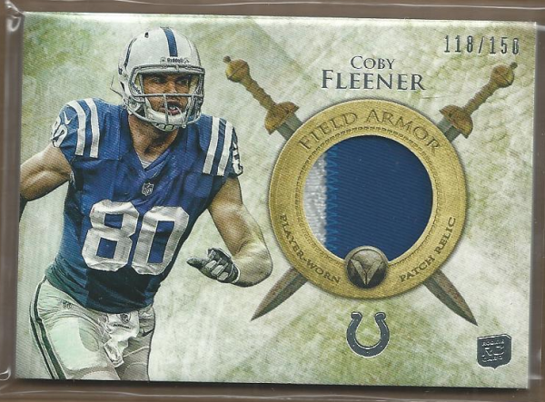 2012 Topps Valor Field Armor Patches #FAPCF Coby Fleener