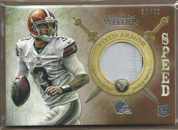 2012 Topps Valor Field Armor Patches Speed #FAPBW Brandon Weeden