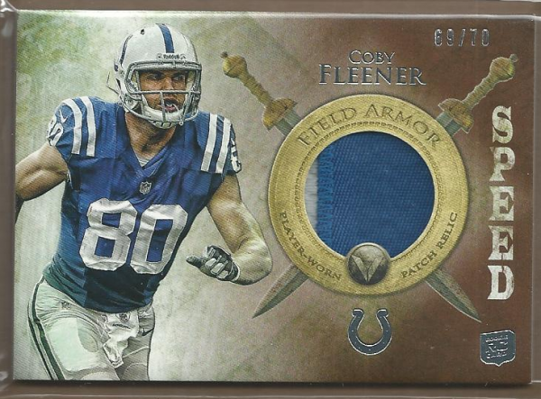 2012 Topps Valor Field Armor Patches Speed #FAPCF Coby Fleener