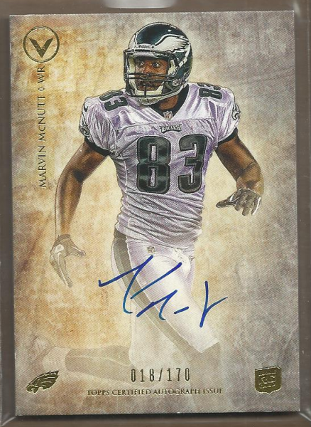 2012 Topps Valor Legionary Autographs #LAMM Marvin McNutt/170