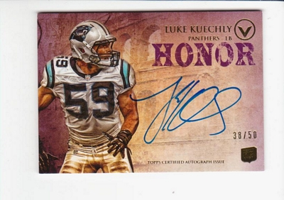 2012 Topps Valor Autographs Honor #VALK Luke Kuechly