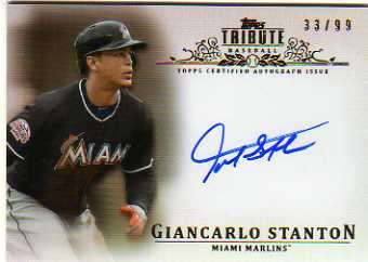 2013 Topps Tribute Autographs #GS Giancarlo Stanton