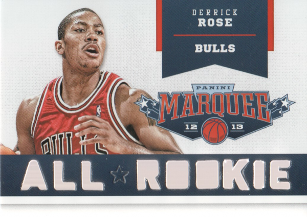 2012-13 Panini Marquee All-Rookie Team Laser Cut #18 Derrick Rose