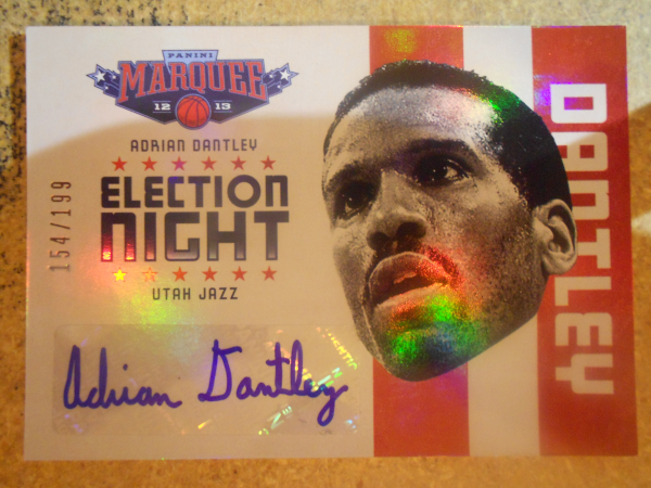 2012-13 Panini Marquee Election Night Autographs #18 Adrian Dantley/199