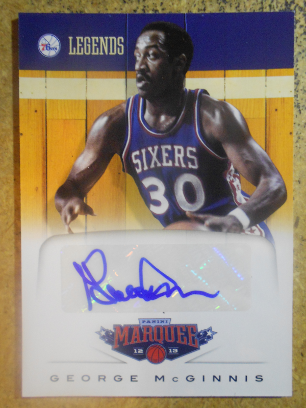 2012-13 Panini Marquee Legends Signatures #2 George McGinnis