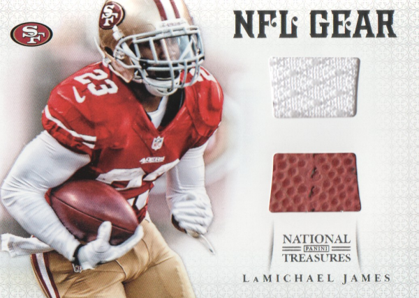 2012 Panini National Treasures NFL Gear Combos #4 LaMichael James
