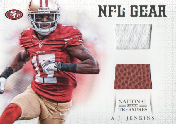 2012 Panini National Treasures NFL Gear Combos #16 A.J. Jenkins