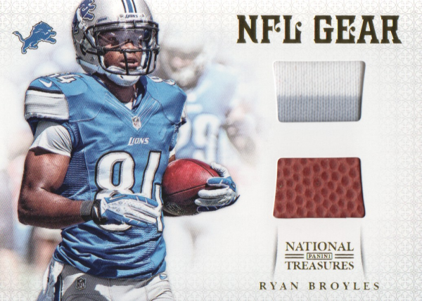 2012 Panini National Treasures NFL Gear Combos Prime #18 Ryan Broyles