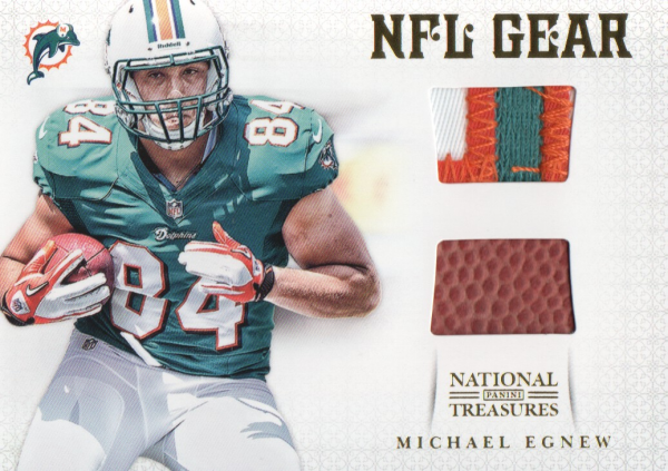 2012 Panini National Treasures NFL Gear Combos Prime #30 Michael Egnew