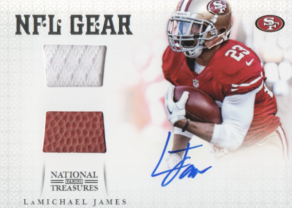 2012 Panini National Treasures NFL Gear Combos Signatures #4 LaMichael James