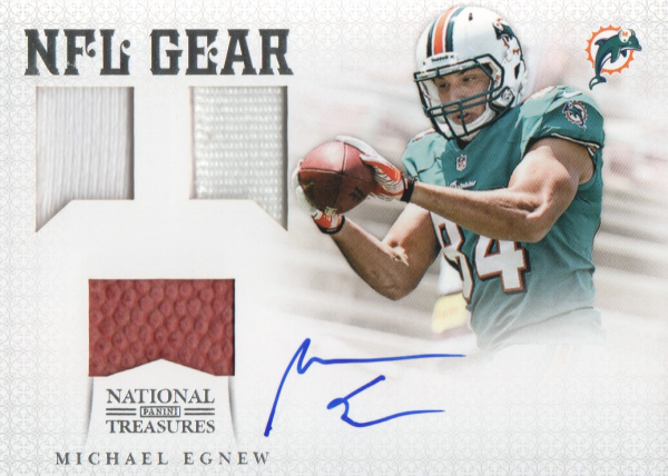 2012 Panini National Treasures NFL Gear Triple Signatures #30 Michael Egnew