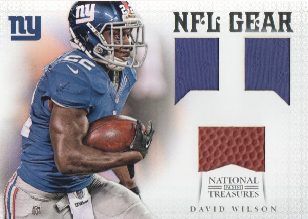 2012 Panini National Treasures NFL Gear Triple #3 David Wilson