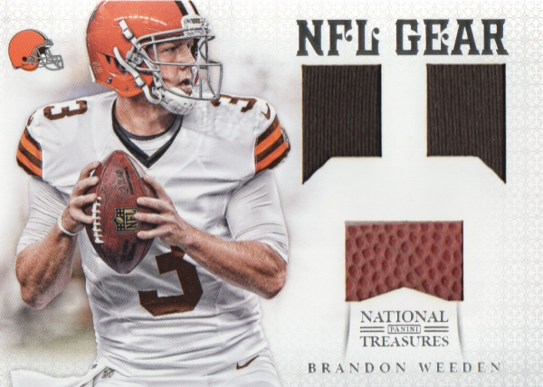 2012 Panini National Treasures NFL Gear Triple #27 Brandon Weeden