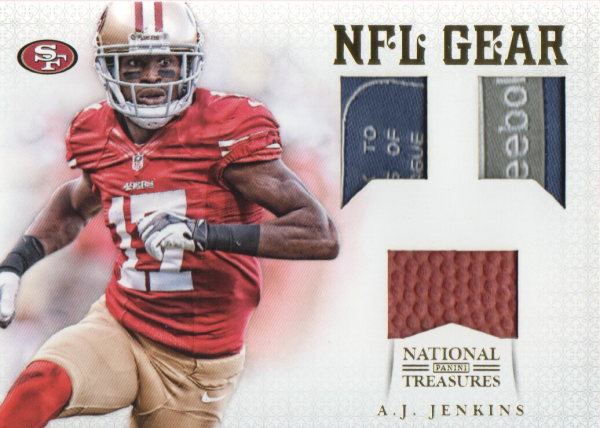 2012 Panini National Treasures NFL Gear Triple Prime #16 A.J. Jenkins
